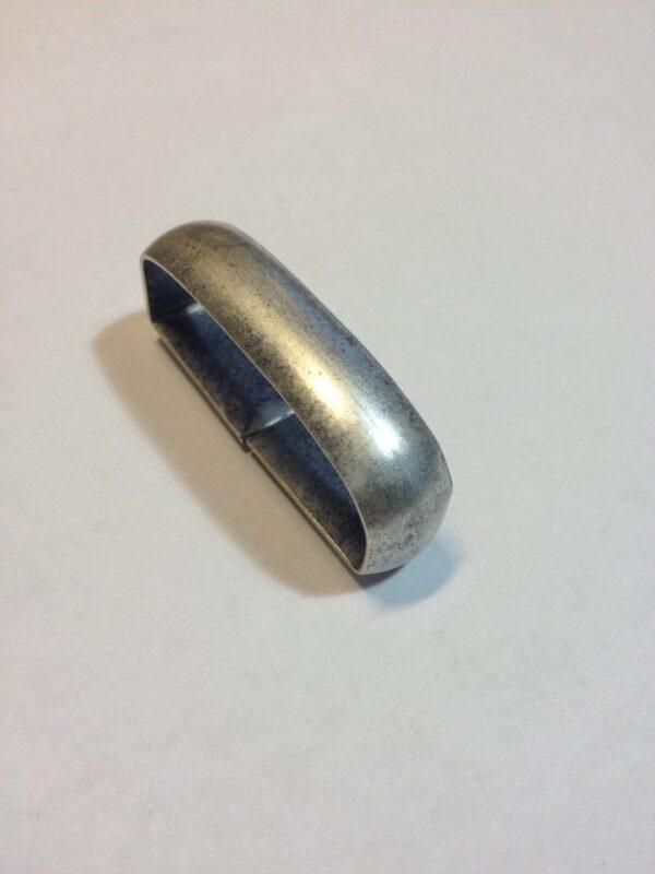 Шлевки для ремней металлические 40 мм старое серебро