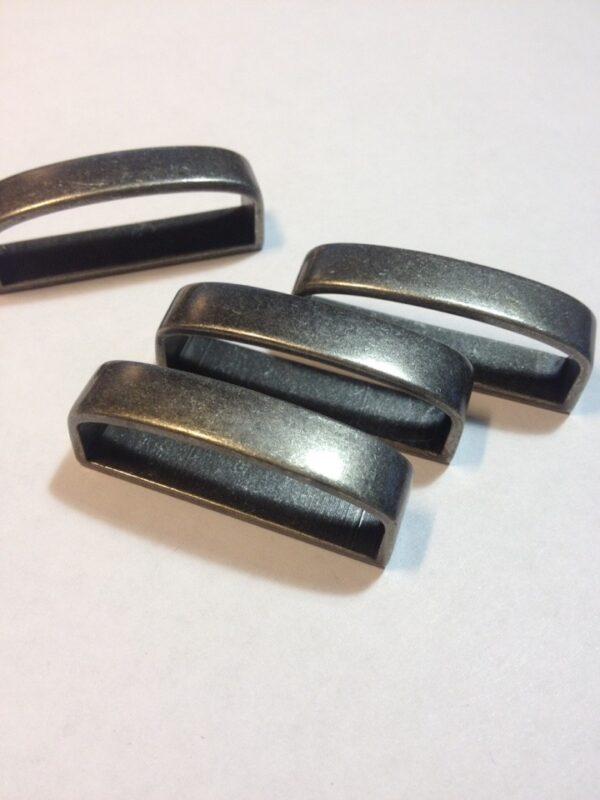 Шлевка для ремня 40 мм ст серебро (темное)