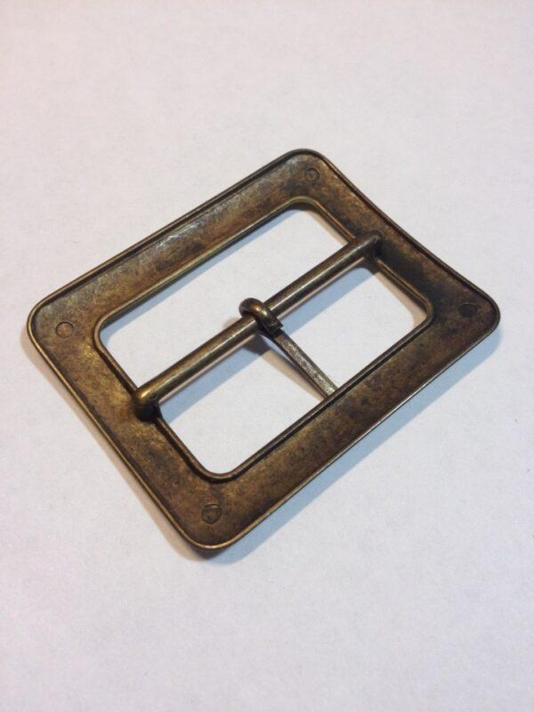 Пряжка 40 мм старая латунь сатин