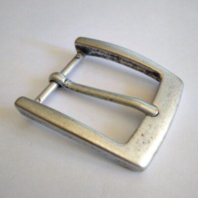 Пряжка для ремня 35 мм старое серебро Италия