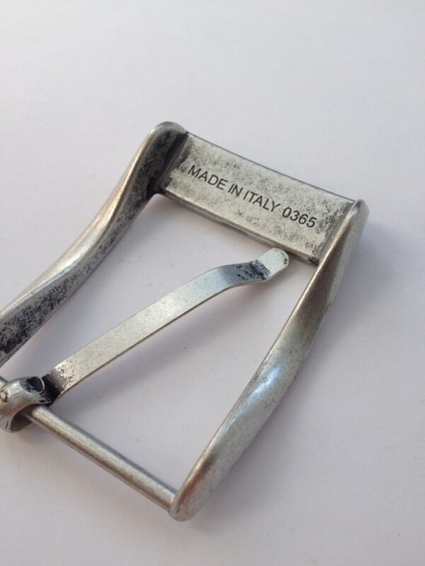 Пряжка для ремня 35 мм старое серебро