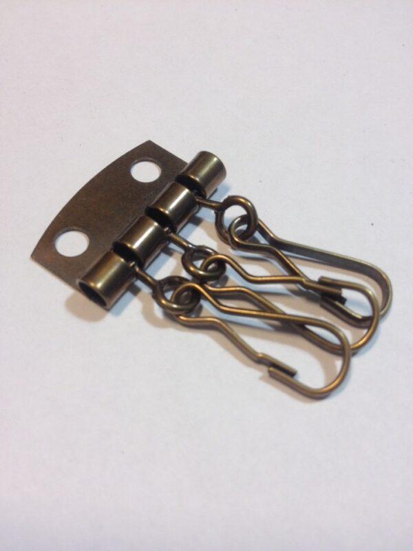 Фурнитура для ключниц на 3 карабина