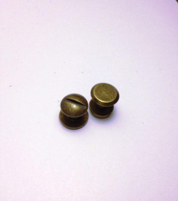 Винт для ремня 5 мм Ст.латунь