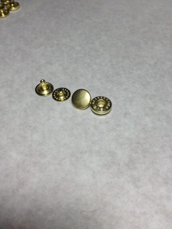 Кнопки альфа 10 мм золото