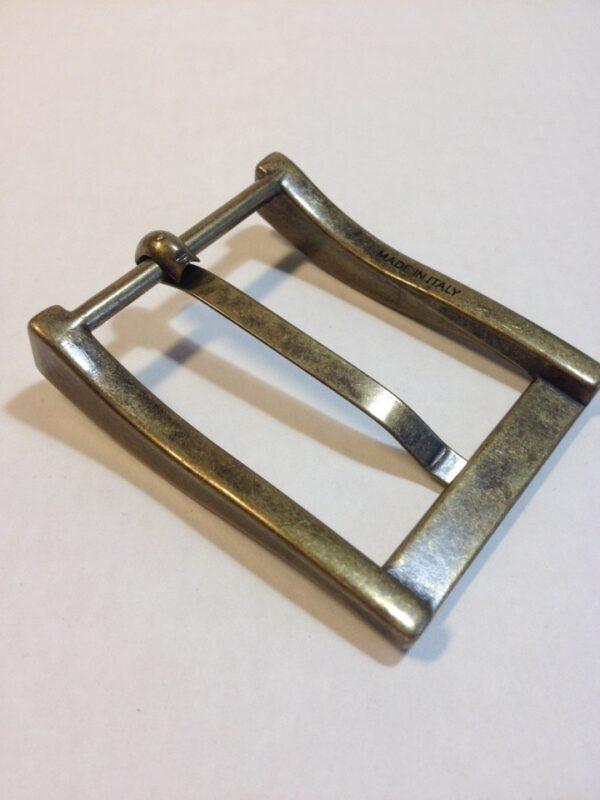 Пряжка для ремня 40 мм старая латунь