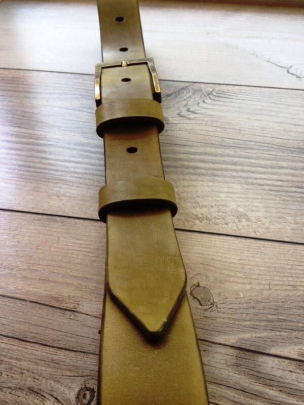 Ремень кожаный ширина 40 мм с молнией