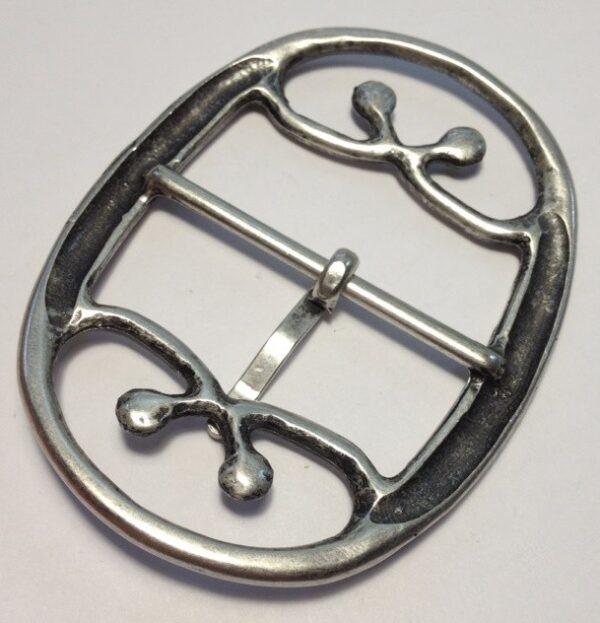 Пряжки для женских ремней 50 мм старое серебро