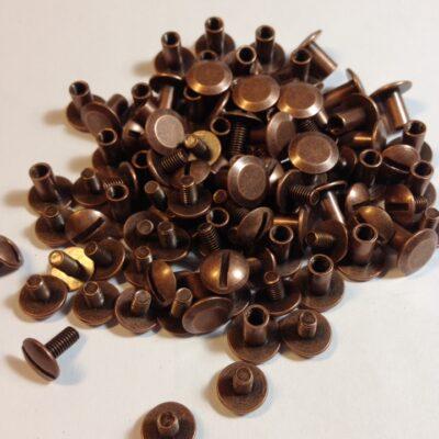 Винты для ремней старая медь 7 мм