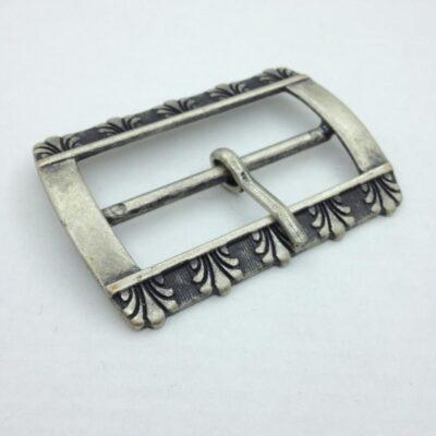 Пряжка для ремня 50 мм старое серебро Италия