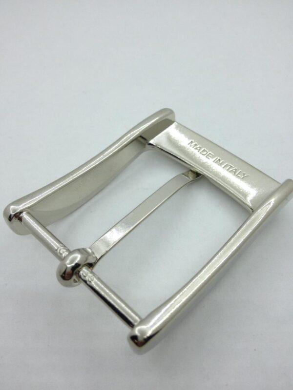 Пряжка для ремня 35 мм никель Италия