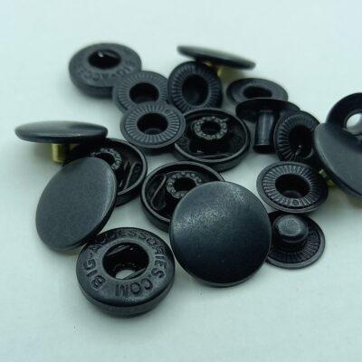 Кнопки альфа 15 мм черненые